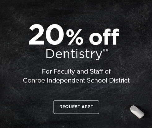 Teacher Offer - Dentist in Shenandoah - The Woodlands Modern Smiles Dentistry and Orthodontics